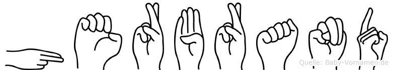Herbrand in Fingersprache für Gehörlose