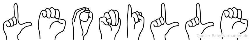Leonille im Fingeralphabet der Deutschen Gebärdensprache