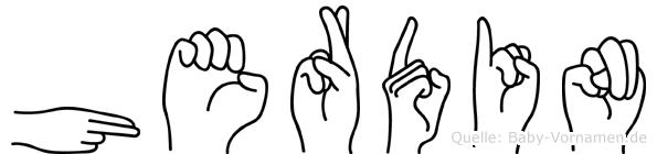 Herdin in Fingersprache für Gehörlose