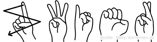 Zwier im Fingeralphabet der Deutschen Gebärdensprache