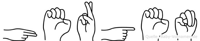 Hergen in Fingersprache für Gehörlose