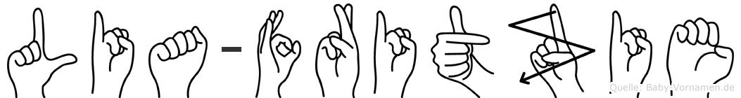 Lia-Fritzie im Fingeralphabet der Deutschen Gebärdensprache