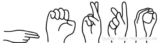 Herko in Fingersprache für Gehörlose