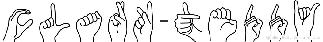 Clark-Teddy im Fingeralphabet der Deutschen Gebärdensprache