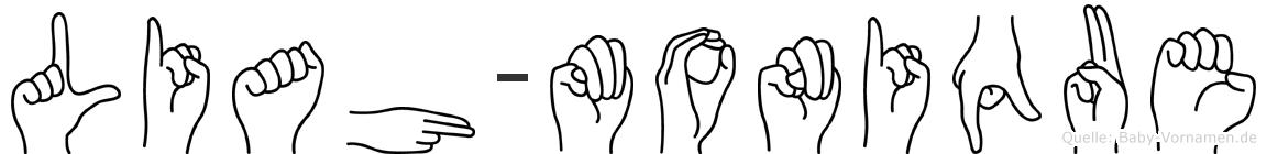 Liah-Monique im Fingeralphabet der Deutschen Gebärdensprache