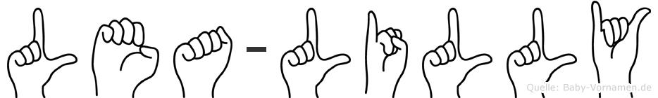 Lea-Lilly im Fingeralphabet der Deutschen Gebärdensprache