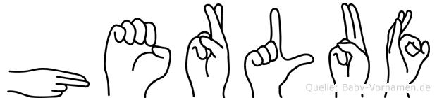 Herluf in Fingersprache für Gehörlose