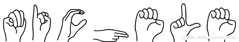 Michele im Fingeralphabet der Deutschen Gebärdensprache