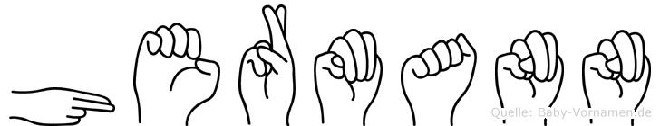 Hermann in Fingersprache für Gehörlose