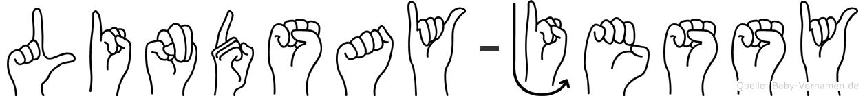 Lindsay-Jessy im Fingeralphabet der Deutschen Gebärdensprache