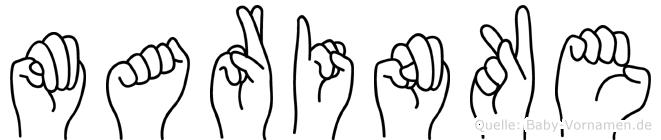 Marinke im Fingeralphabet der Deutschen Gebärdensprache