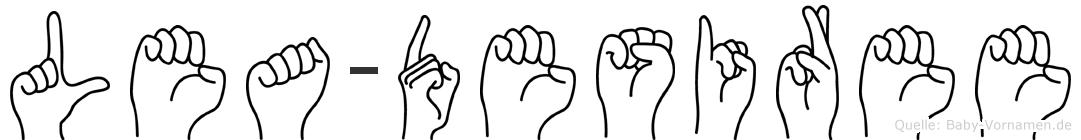 Lea-Desiree im Fingeralphabet der Deutschen Gebärdensprache
