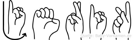 Jerik in Fingersprache für Gehörlose