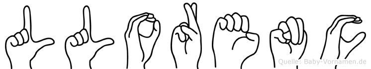 Llorenc im Fingeralphabet der Deutschen Gebärdensprache