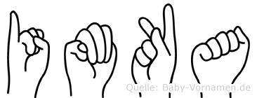 Imka im Fingeralphabet der Deutschen Gebärdensprache