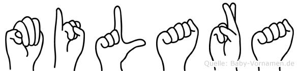 Milara in Fingersprache für Gehörlose
