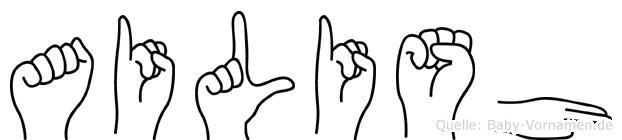 Ailish in Fingersprache für Gehörlose