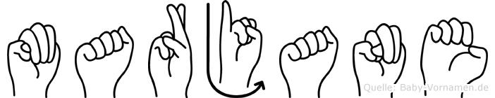 Marjane in Fingersprache für Gehörlose