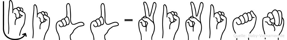 Jill-Vivian im Fingeralphabet der Deutschen Gebärdensprache
