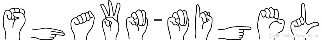 Shawn-Nigel im Fingeralphabet der Deutschen Gebärdensprache