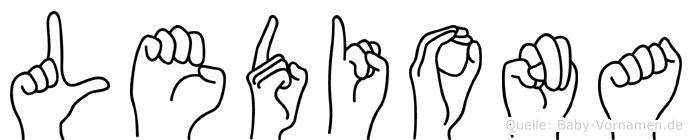 Lediona in Fingersprache für Gehörlose