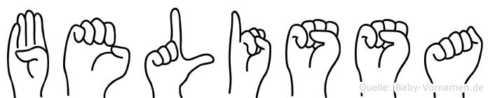 Belissa in Fingersprache für Gehörlose