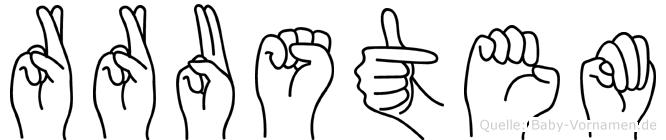 Rrustem im Fingeralphabet der Deutschen Gebärdensprache