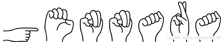 Gennara im Fingeralphabet der Deutschen Gebärdensprache