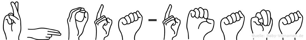 Rhoda-Deana im Fingeralphabet der Deutschen Gebärdensprache
