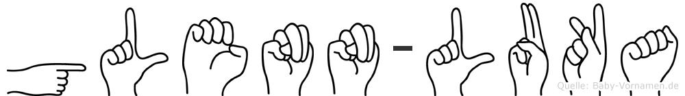 Glenn-Luka im Fingeralphabet der Deutschen Gebärdensprache