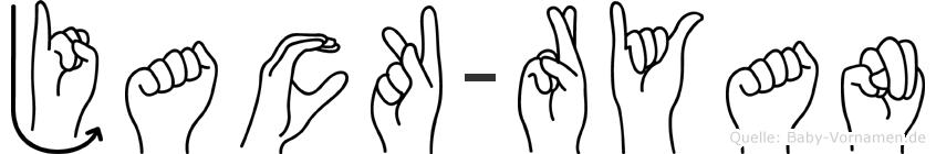 Jack-Ryan im Fingeralphabet der Deutschen Gebärdensprache