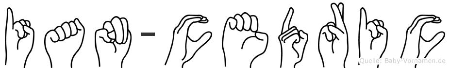 Ian-Cedric im Fingeralphabet der Deutschen Gebärdensprache