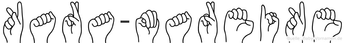 Kara-Mareike im Fingeralphabet der Deutschen Gebärdensprache