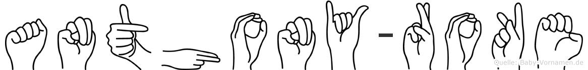 Anthony-Roke im Fingeralphabet der Deutschen Gebärdensprache
