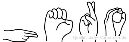 Hero im Fingeralphabet der Deutschen Gebärdensprache