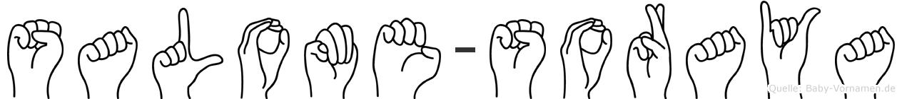 Salome-Soraya im Fingeralphabet der Deutschen Gebärdensprache