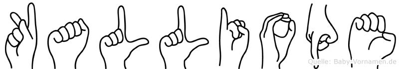 Kalliope in Fingersprache für Gehörlose