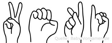 Veki im Fingeralphabet der Deutschen Gebärdensprache