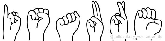 Isaure in Fingersprache für Gehörlose