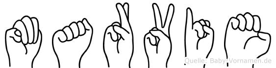 Marvie in Fingersprache für Gehörlose