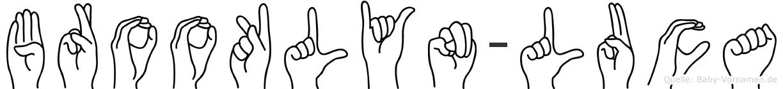 Brooklyn-Luca im Fingeralphabet der Deutschen Gebärdensprache
