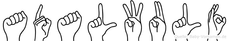 Adalwulf in Fingersprache für Gehörlose