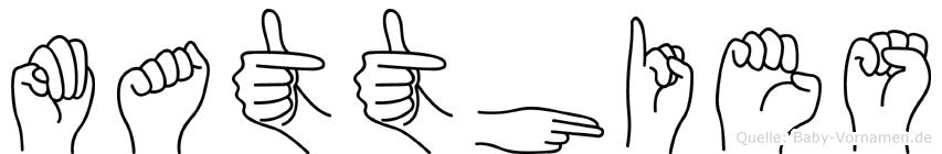 Matthies im Fingeralphabet der Deutschen Gebärdensprache
