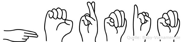 Hermin im Fingeralphabet der Deutschen Gebärdensprache