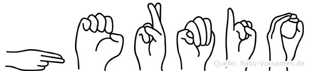 Hermio in Fingersprache für Gehörlose
