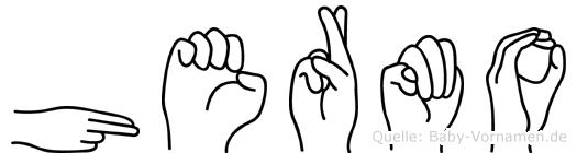 Hermo in Fingersprache für Gehörlose