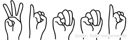 Winni im Fingeralphabet der Deutschen Gebärdensprache
