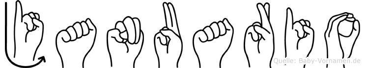Januario in Fingersprache für Gehörlose