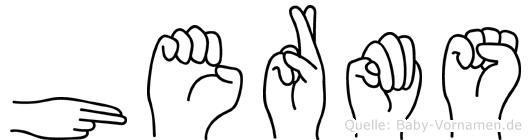 Herms in Fingersprache für Gehörlose