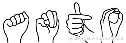 Anto in Fingersprache für Gehörlose